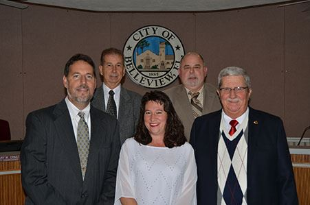 Group photo of the Mayor and City Commissioners.